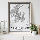 Aishangjia Wellington Nordic City Map Wohnzimmer Dekor