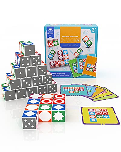 New Wave Games Puzzle Matchings Game, 2021 New Games Wooden Children Toys Puzzle Board Games for...