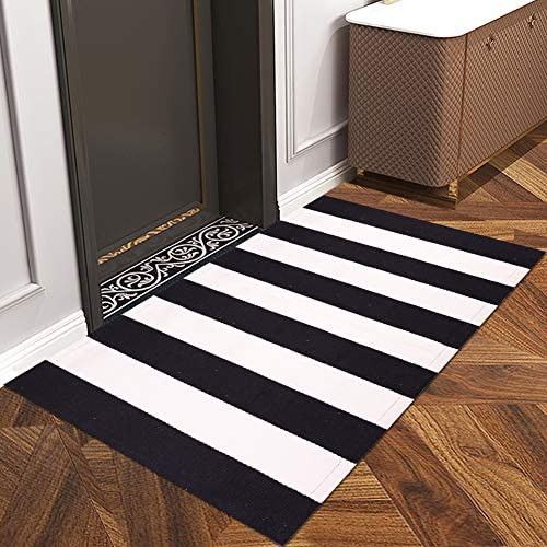 Coindivi Indoor Outdoor Doormat with Latex Backing Entryway Welcome Mats Cotton Stripe Entrance product image