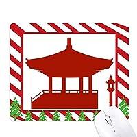 中国館文化シルエット・パターン ゴムクリスマスキャンディマウスパッド