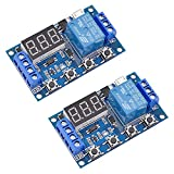 [2 Pack] DC 6-30V Timer Relay Programmable Delay Relay Module Cycle Timer with LCD Display / 5V Micro USB, Smart Home Controller