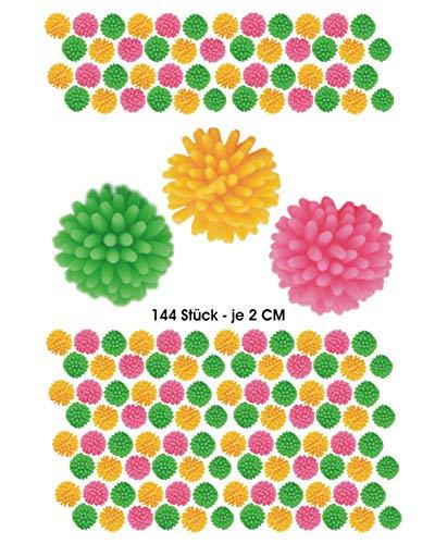 jameitop®🌟 Mega Set 144 X Igel Ball Stressball mit Noppen 2 cm Noppenball 🌟