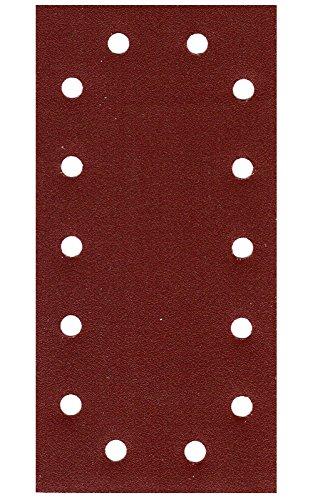 50er Pack Schleifpapier Schleifblatt 115 x 230mm 14 Loch Körn.= 40 Schwingschleifer Winkelschleifer