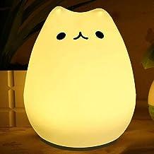 Siliconen LED-bedlamp Warm Wit Kleur Veranderende Modes Touch Control Lichten Nachtlampje Voor Kids