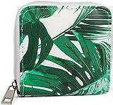 styleBREAKER Damen Mini Geldbörse mit Palmen Print, Reißverschluss, Portemonnaie 02040121,...