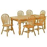 Sunset Trading Oak Selections Dining Table Set, Light Finish