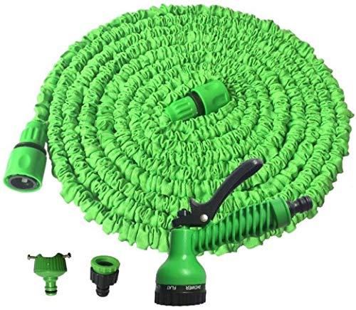 Woodtree Magie erweiterbar Gartenschlauch, No Kink Wasserschlauch Flexible Stretch Wasserrohr for Heim Rasen Auto mit Professional Wassersprühdüse (Size : 50ft=15m)