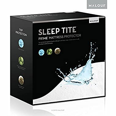 Sleep Tite Hypoallergenic 100% Waterproof Mattress Protector- 15-Year Warranty - Cal King