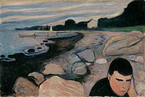 Melâncolia de Edvard Munch - 60x89 - Tela Canvas Para Quadro