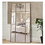 Espejo de Cuerpo Entero Rectangular Dorado [220 x 110 x 3cm] | Diseño danés | Espejo Grande y Largo de pie | Vertical y Horizontal