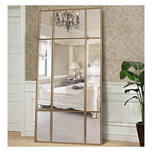 Espejo de Cuerpo Entero Rectangular Dorado [220 x 110 x