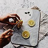 GJRFYJ Cfslp Placas de mármol de Estilo nórdico Plato de Incrustaciones de Oro Platos de Sushi Postres Pastel de Plato Cocina Cocina Vajilla Pizza Peel Tablero Bandeja (Size : 10 Inch)