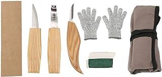 Juego de 5 tijeras para tallar en madera, para pulir, cera, piel, afilar, para principiantes, manualidades
