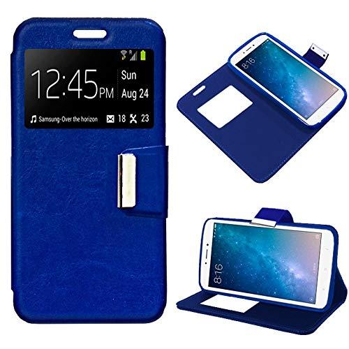 Mb Accesorios Funda Tapa Libro Azul para Xiaomi Mi MAX 2 - Interior. Silicona