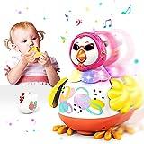 VATOS Tanzendes Henne Baby Musik Spielzeug ab 12 16 18 Monate | Kleinkindspielzeug für 1 2 3 4 Jahre mit 2 Hühnerpfeifen Interaktives Lernspielzeug mit Licht & Geräuschen für 18 Monate Jungen Mädchen