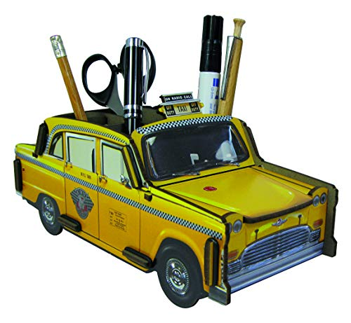 WERKHAUS(ベルクハウス) ドイツ製 ペン立て おしゃれ 文房具 オフィス タクシー TAXI NY ニューヨーク イエローキャブ プレゼント 収納 エコ リサイクル 木材合板を利用 MADE IN GERMANY