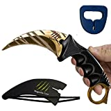 Magnolia Gear KARAMBIT CSGO Knife Skins Tactical Knife | Neck Knife Easy to Carry with Rope, Sheath and Sharpener | Perfect for Hunting Fishing Camping Survival | Personal Self Defense Tiger