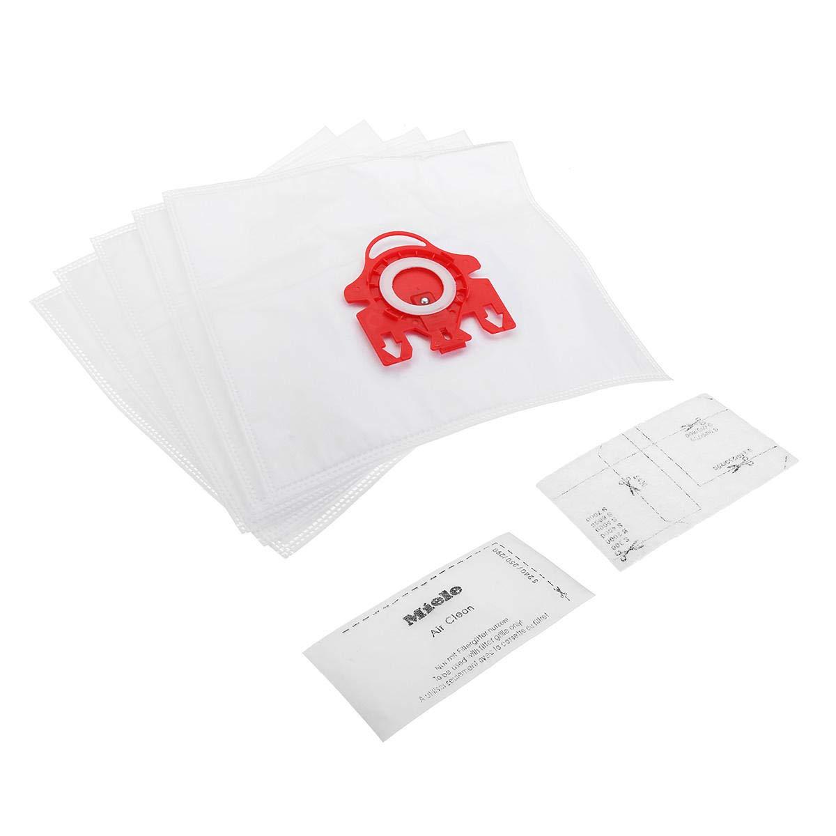 GIlH 5pcs bolsa de aspiradora con 2 Filtro para Miele FJM doble capa Aspirador: Amazon.es: Bricolaje y herramientas