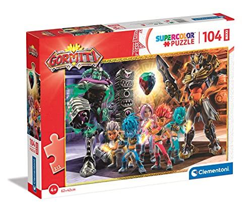 Clementoni Supercolor Gormiti 104 maxi pezzi-Made in Italy, bambini 4 anni, puzzle cartoni animati, Multicolore, 23761
