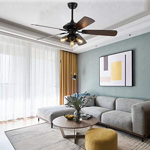 Ventilador de techo para el hogar de 52 pulgadas, moderno, lámpara de interior, ventilador decorativo + mando a distancia