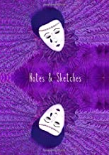 Notes & Sketches: A4 - 100 blank pages: Artist's diary/Creative Journal/Sketchpad/Notepad/Drawing Pad / Tear Drop Clown - Purple
