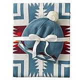 Pendleton Organic Cotton Knit Baby Blanket w/ Beanie, Harding Teal