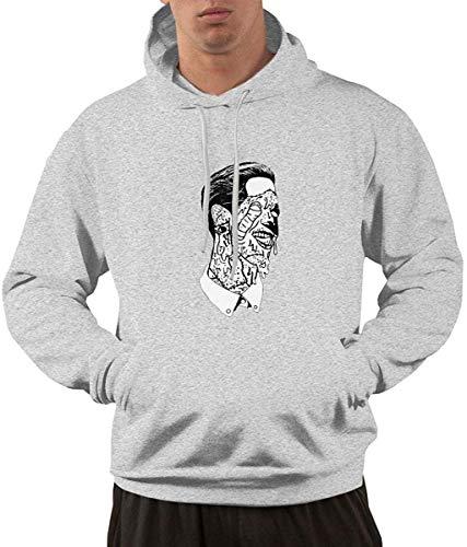 Men's Hoodie Sweatshirt G-Eazy Logo New Classic Minimalist Style Gray
