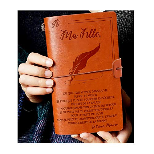 à Ma Chille - Diario de piel para niña (120 páginas), color Maman M