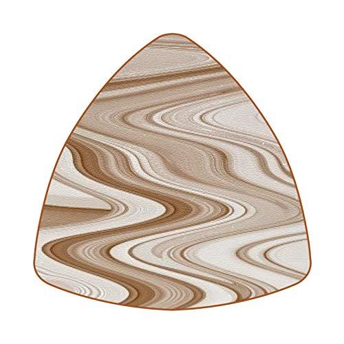 Posavasos triangulares para bebidas, diseño de arco del desierto, de cuero, para proteger muebles, resistente al calor, decoración de bar de cocina, juego de 6