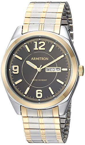 Armitron Men's 20/4591BKTT Day/Date Function Two-Tone Expansion Band Watch