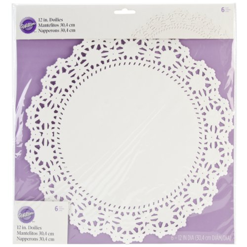 Wilton 6 Count Grease Proof Doilies, 12-Inch, White