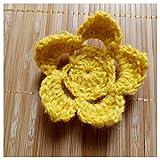 JIWEIER Ganchillo del algodón 3pcs DIY Flores Hechas a Mano Patch...