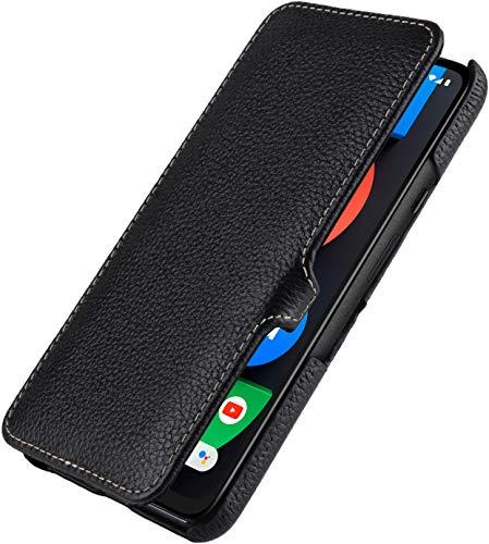 StilGut Book Hülle kompatibel mit Google Pixel 4a 5G Hülle aus Leder mit Clip-Verschluss, Lederhülle, Klapphülle, Handyhülle - Schwarz