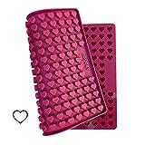 Collory Mini Herz (1,5cm) Silikon Backmatte, Backform für Mini DIY Hundekekse und Leckerlis, Herzenbackform, Pralinenform, Schokoladenform, Antihaftend und Lebensmittelecht (BPA-Frei)