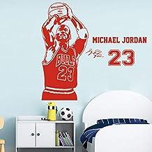 miaoqiushiyi Baloncesto The Shoot 23 Michael Jordan Wallpaper Decoración del Hogar Etiqueta De La Pared para Sala De Estar Habitación De Los Niños Decoración Murales Poster