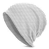 QIUYELONG Chain Link Fence Print Slouchy Beanie Skull Cap Knit Hat