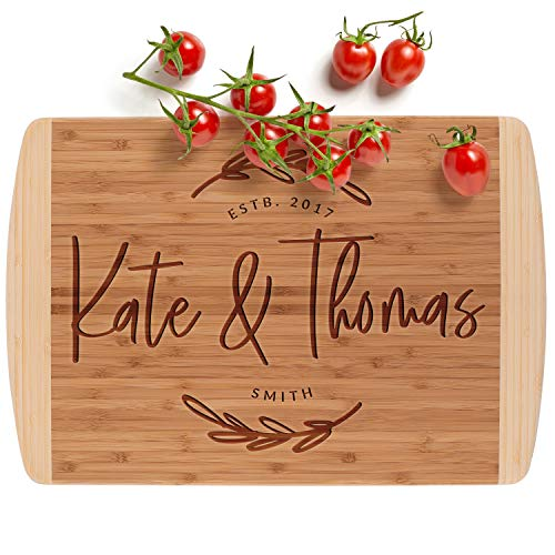 Personalized Cutting Board, 12 Designs & 3 Sizes, Bamboo Cutting Board, Wedding...
