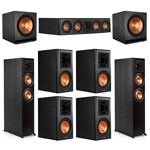 Purchase Klipsch 7.2 Ebony Home Theater System – 2 RP-6000F, 1 RP-404C, 4 RP-600M, 2 SPL-150 Subwoofers