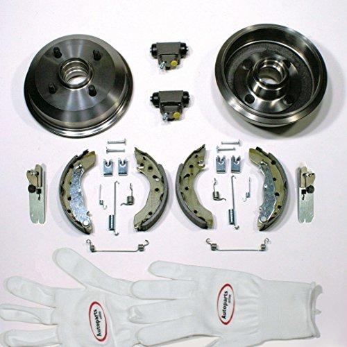 Autoparts-Online Set 60004304 Bremstrommeln + Bremsbacken mit Radlager + Nachsteller + Zubehör hinten