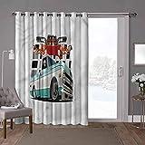 YUAZHOQI cortinas correderas de cristal para puerta, camión, vehículo de recogida Lowrider, 100 x 108 pulgadas de ancho persiana vertical para sala de estar (1 panel)