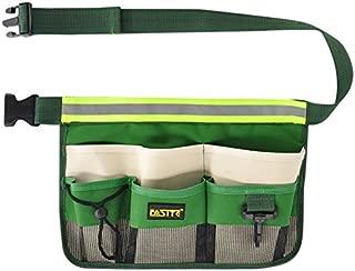 FASITE YL003F 7-POCKET Gardening Tools Belt Bags Garden Waist Bag Hanging Pouch, Green
