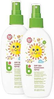 Babyganics Baby Sunscreen Spray, SPF 50, Spray Bottle, 6 Fl Oz, Pack of 2