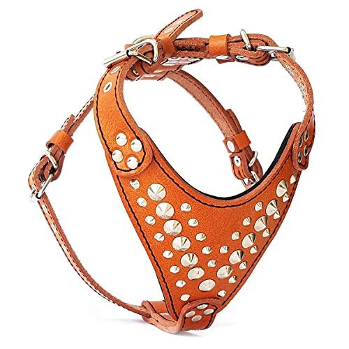 Bestia Studded Leather Harness. French Bulldog Size. 100% Leather. Handmade in Europe
