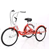 Best Adult Tricycles - KUNS Adult Tricycle Trikes 7 Speed 3-Wheel Bikes,24 Review