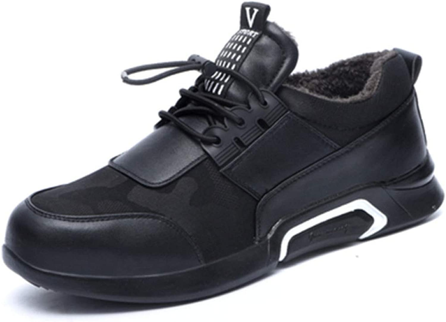 Men's safety work shoes anti-smashing anti-piercing steel toe cap outdoor casual sports shoes