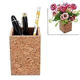 Cork Pen Pencil Holder, Boshiho Writing Utensil Desk Storage Organizer for School, Office, Home or Locker, Vegan Gift
