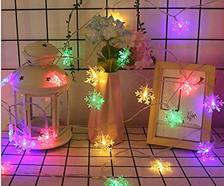 CCCCCCC Pequeo Copo de Nieve LED Linterna Cadena Luces de Navidad Festival Estrellado Fondo de la Sala de Bodas Luces Decorativas 10 m