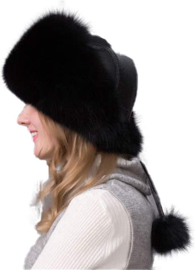 BigForest Damen M/ädchen Kosak Russischer Stil Kunstpelz Hut Winter Warme Kappe Uschanka M/ütze flauschig pelzig Ohren Skifahren Kappe
