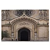 1000 Pieces Jigsaw Puzzles,The Entrance To The Cathedral Of Sainte Croiz D'Orleans, Orleans, France,Large Picture Puzzle Educational Games Artwork For Adults Teens Kids Wall Home Decoration gif-ts