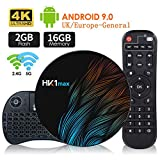 Android 9.0 Smart TV Box (2G + 16G), mit Tastatur und 64-Bit-Quad-Core RK3318, Steckeradapter, WiFi...